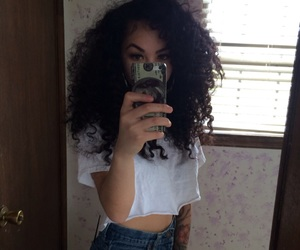 curly hair and icon image