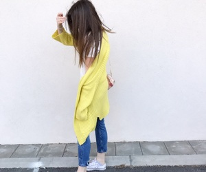brunette, convers, and fashion image