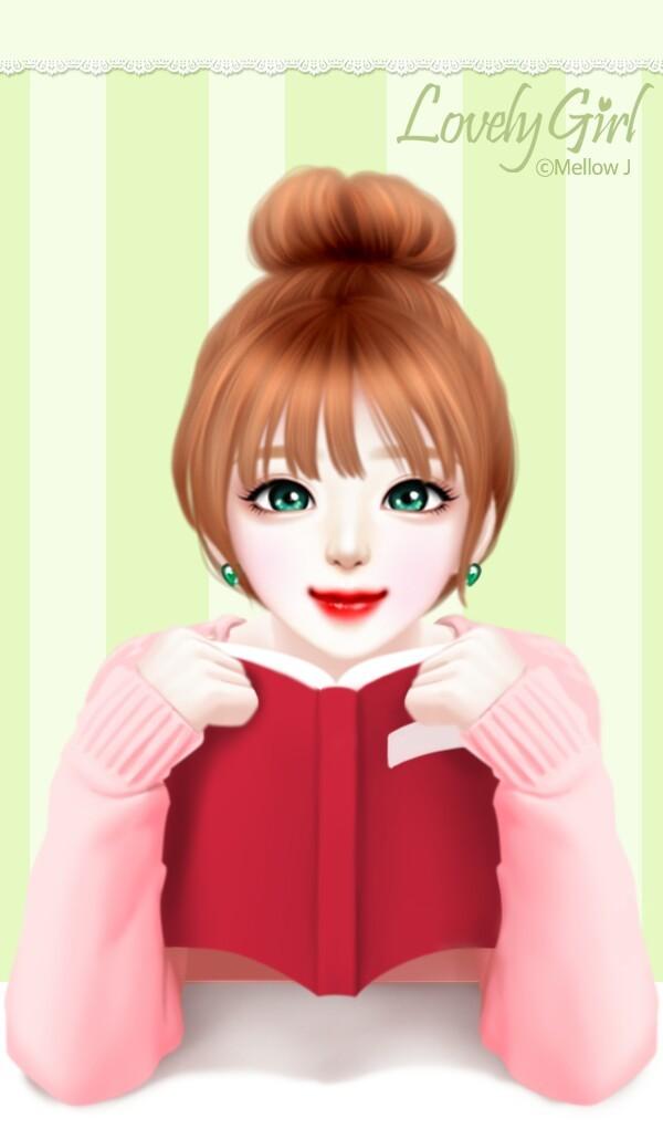 Art Art Girl Background Beautiful Beautiful Girl Beauty Cartoon Cute Art Design Drawing Enakei Fashion Girl Hair Illustration Illustration Girl Sweet Sweet Girl Wallpapers We Heart It Green Background Lovely Girl Beautiful