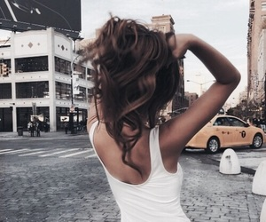 hair, brunette, and travel image