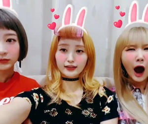 exid, hyelin, and ahn elly image