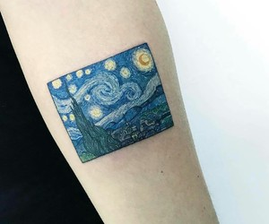 tattoo, art, and van gogh image