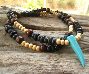 beaded necklace, beads, and etsy image