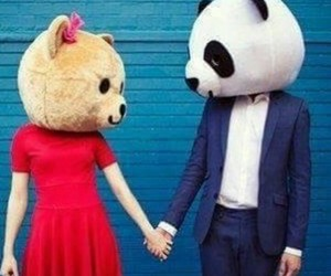 couple, love, and panda image
