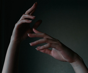 couple, dark, and hands image