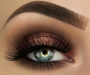 eye, mascara, and eye shadow image