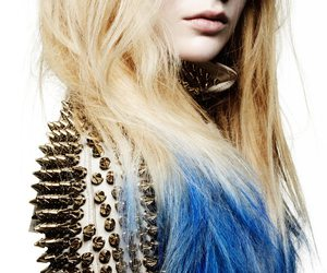 blue, hair, and studs image