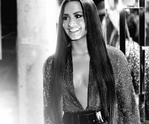 black and white, demi lovato, and grammy image