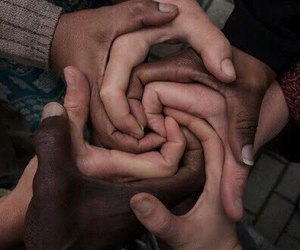 black, peace, and friends image