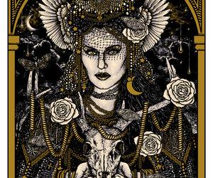 etsy, gold, and pagan image