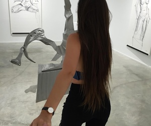 couple, girl, and museum image