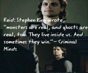 criminal minds, quote, and Reid image