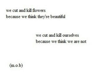 flowers, quotes, and cut image