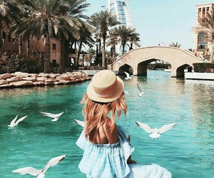 travel, Dubai, and girl image