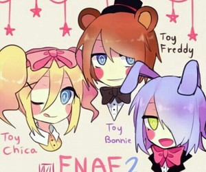 fnaf, toy bonnie, and toy chica image