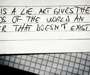 art, beauty, and lie image