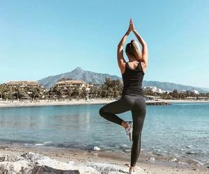 fashion, girl, and yoga image