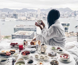 breakfast, travel, and yummy image