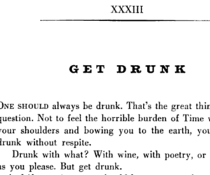 bw, poetry, and drunk image