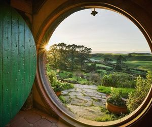 LOTR, hobbiton, and new zealand image