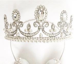 crown, fashion, and headphone image