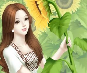 Enakei, illustration, and sunflower image