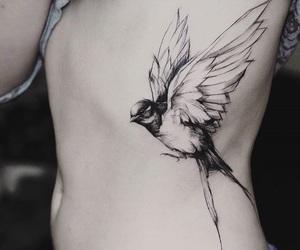 bird, freedom, and tattoo image