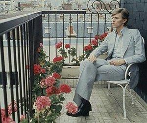 david bowie, flowers, and paris image