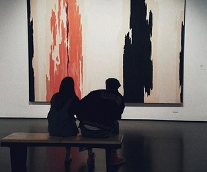 art, couples, and love image