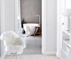 bathroom, chair, and elegant image