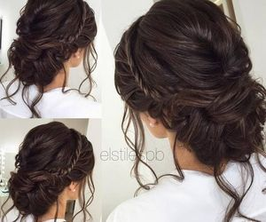 braid, bun, and Prom image