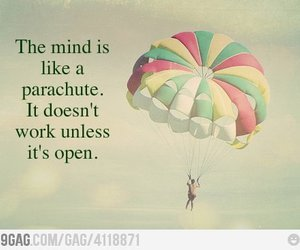 quote, mind, and parachute image