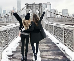 friends, fashion, and winter image