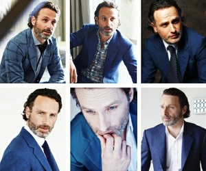 edit, andrew lincoln, and rick grimes image