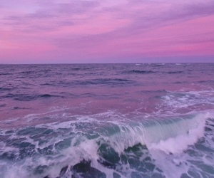 purple, sea, and pink image