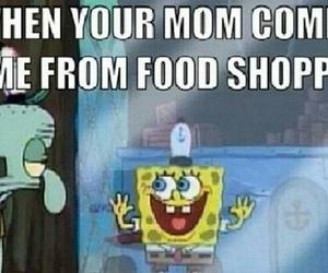 funny, spongebob, and food image