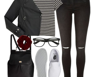 backpack, glasses, and leatherjacket image