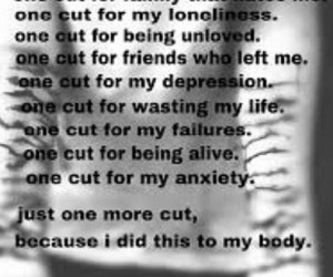 broken, cutting, and depression image
