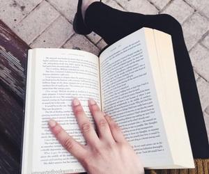 books, relaxed, and girl image