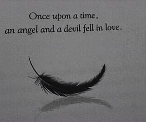 angel, love, and Devil image