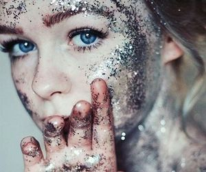 girl, glitter, and tumblr image