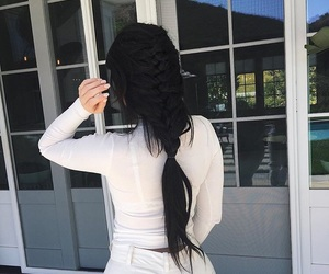 kylie jenner, hair, and braid image