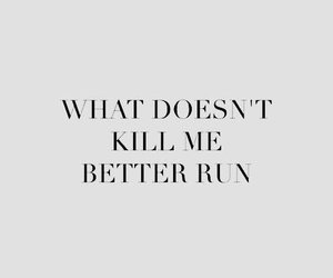 quotes, run, and words image
