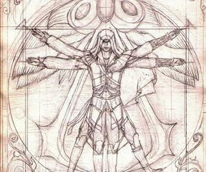 Leonardo da Vinci and assassin's creed image