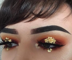 gold flakes, mua , and beauty look book image