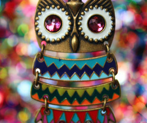 fashion, necklace, and owl image
