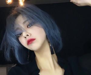 hair, short hair, and colour hair image