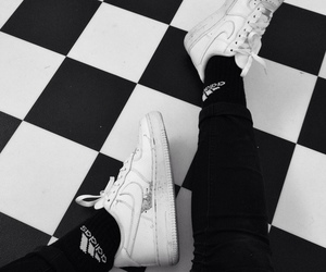 black and white, tiles, and ⓝⓘⓚⓔⓢ image