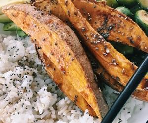 asian, avocado, and bowl image