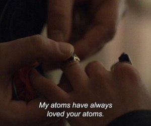 love, quotes, and atom image